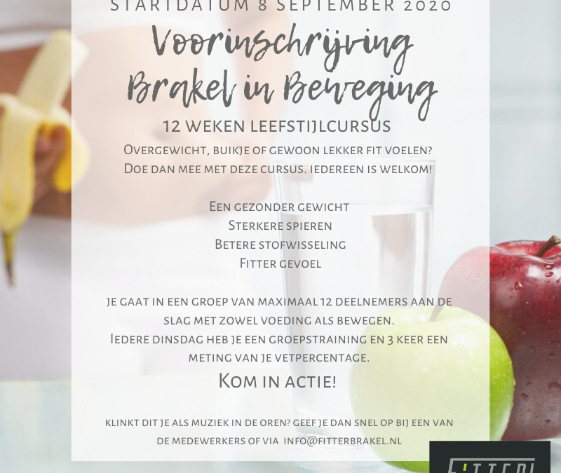 Brakel in Beweging start 8 sept 2020