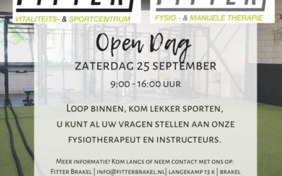 Open Dag zaterdag 25 september